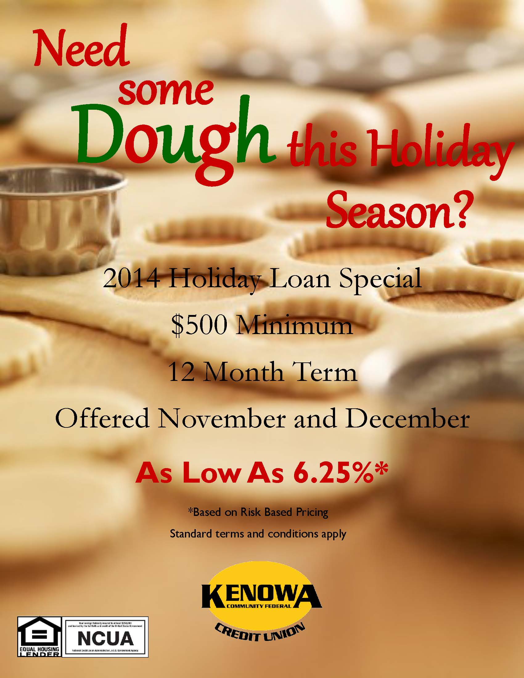 2014 Holiday Loan Special w NCUA