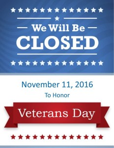 closedveteransday